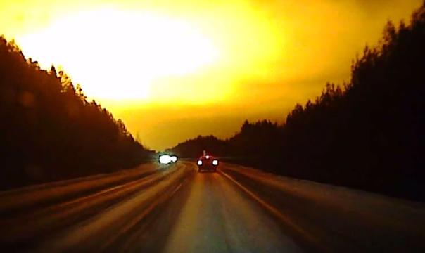 Lumina misterioasa deasupra Rusiei