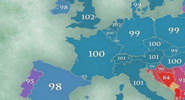 Cât de inteligenţi sunt românii? Harta IQ-ului din Europa