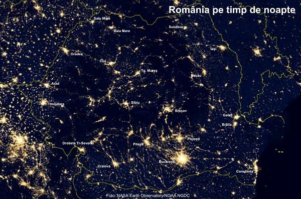 Romania Văzută Noaptea Din Satelit