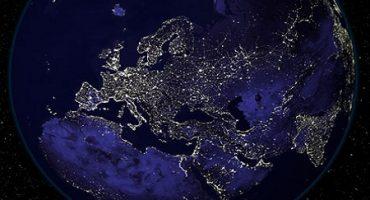 România văzută noaptea din satelit