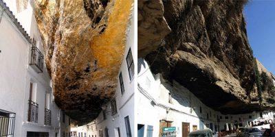Orașul din Spania construit sub stânci