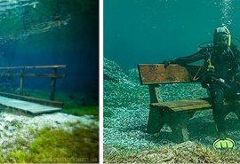 Fenomen bizar - parcul care se transformă vara în lac