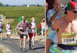 Maratonul din Franța unde oamenii beau vin și mănâncă brânză