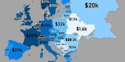Averea personală a locuitorilor din țările Europei