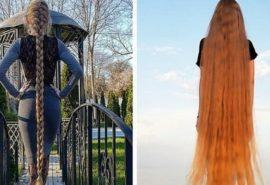 Cum arată o fată din Ucraina care nu și-a tăiat părul de 30 de ani
