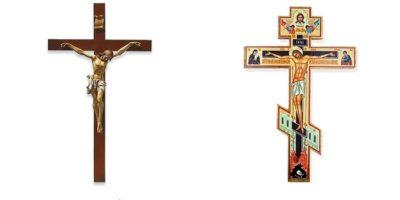 Care este diferența dintre crucea catolică și crucea ortodoxă