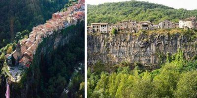 Acest oraș fabulos există pe o stâncă din Spania