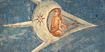 Ce caută o navă spațială într-o pictură din 1350?