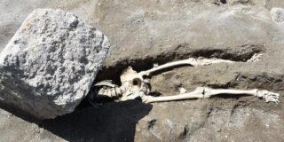 Cel mai ghinionist om din Pompei. Ce a pățit în timp ce încerca să fugă