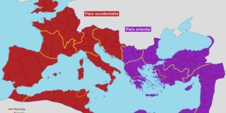 Divizarea Imperiului Roman. De ce Imperiul s-a împărțit în Est și Vest?